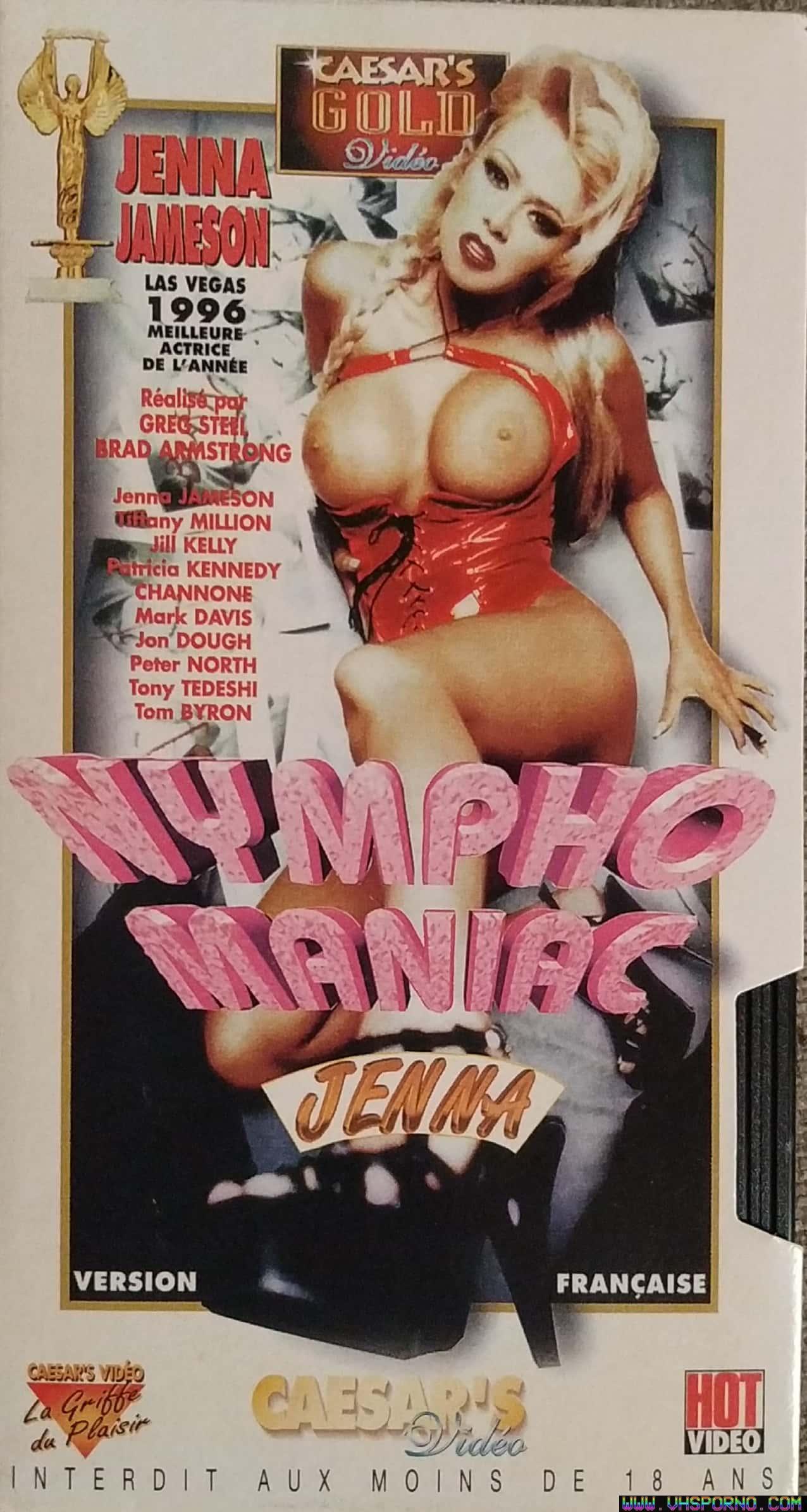 Pochette de Nymphomaniac Jenna • VHS Porno