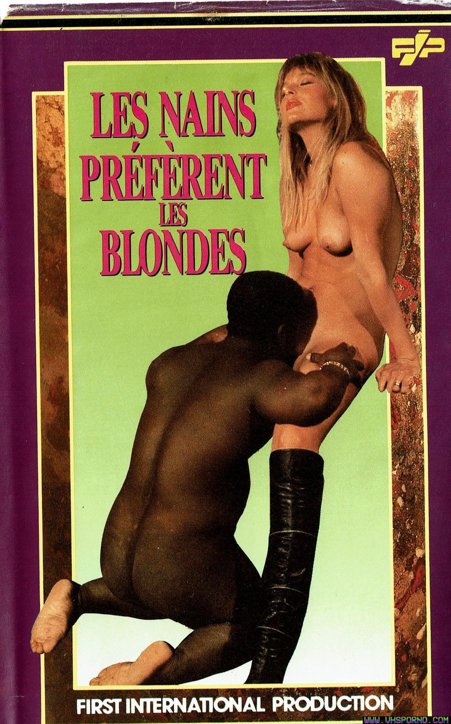 Pochette de Chronique du film porno Les nains préfèrent les blondes • VHS Porno